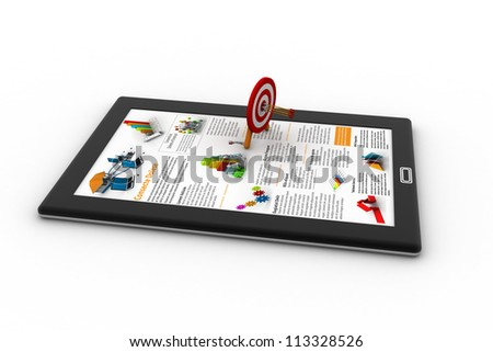Target audience concept. Isolated on white background