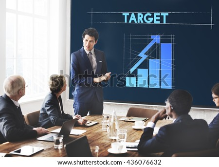 Target Business Growth Graphic Concept