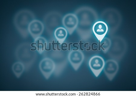 Target customer concept. Stand out from the crowd and be individual.  - stock photo