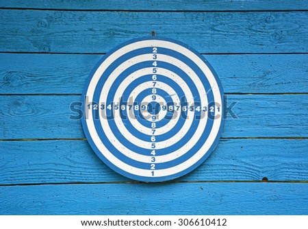 Target dartboard with no hits - stock photo