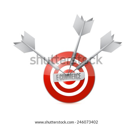 target e-commerce concept illustration design over a white background - stock photo