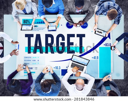 Target Goal Aim Reach Objective Business Concept - stock photo