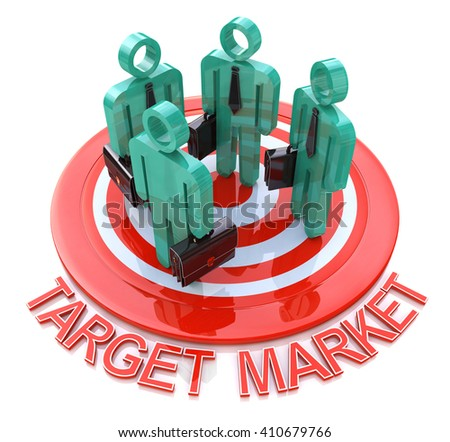 Target market. marketing concept in the design of information related to marketing - stock photo