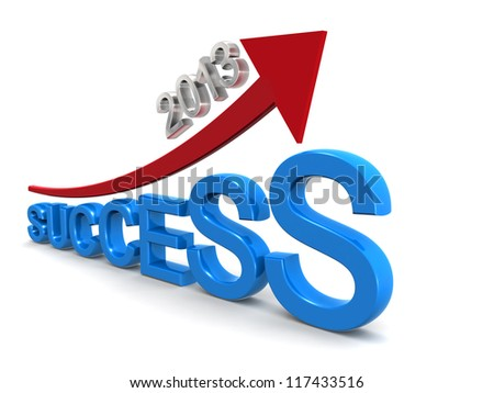 Target of success in year 2013 - stock photo