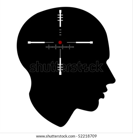 target of the human mind ,  isolated over white background - stock photo