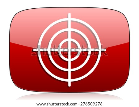 target red glossy web icon  - stock photo