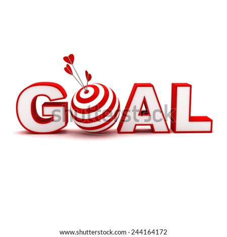 target red goal 3d texture - stock photo