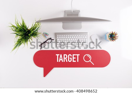TARGET Search Find Web Online Technology Internet Website Concept - stock photo