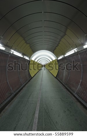 target shaped tunnel
