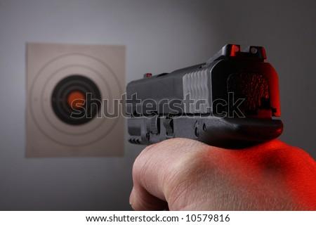 Target Shoot - stock photo