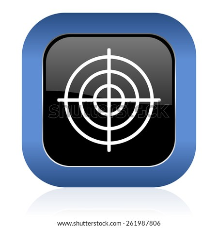 target square glossy icon   - stock photo