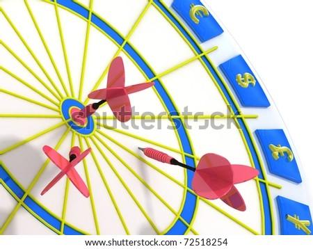Target. Success concept. 3d illustration. - stock photo
