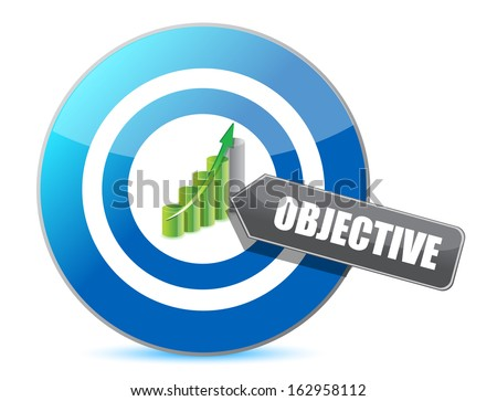 target successful objective illustration design over white - stock photo