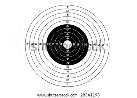 target under the white background - stock photo