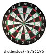 Target with darts with white background - stock photo