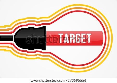 TARGET word in lightbulb concept - stock photo
