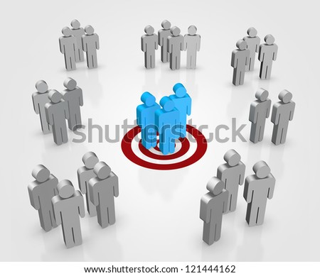 Target your customers concept. Created digitally. - stock photo