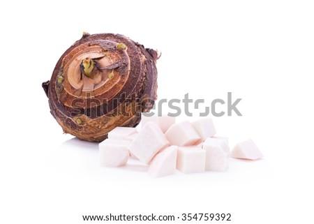 taro isolate on white background - stock photo