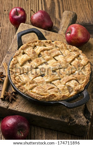 tarte aux pommes - stock photo