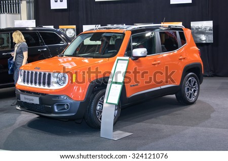 Tartu - September 26: Jeep Renegade at the Tartu Motoshow on September 26, 2015 in Tartu, Estonia