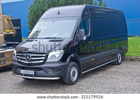 Tartu - September 26: Mercedes-Benz Sprinter at the Tartu Motoshow on September 26, 2015 in Tartu, Estonia