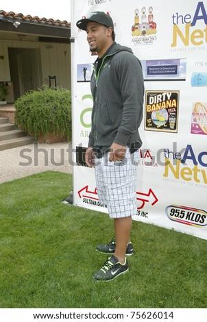 "TARZANA, CA - APRIL 18: Ryan Matthews  arrives at the 8th annual ""Hack n' Smack, Kerry Daveline Memorial, Celebrity Golf Classic"" on April 18, 2011 in Tarzana, CA - stock photo"