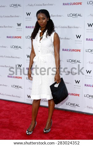 Tasha Smith at the Los Angeles premiere of 'Vicky Cristina Barcelona' held at the Mann Village Theatre in Westwood on August 4, 2008. - stock photo