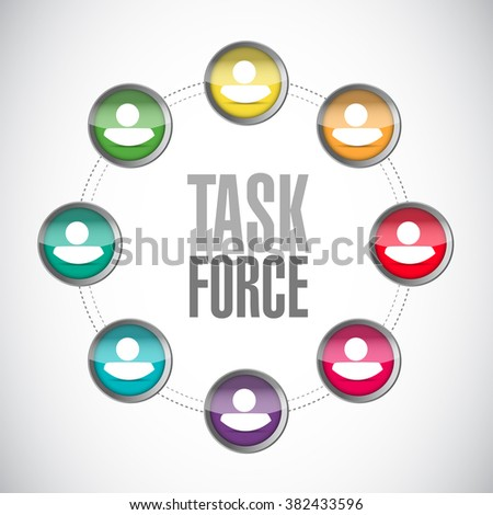 task force people network sign concept illustration design graphic - stock photo