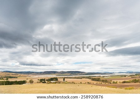 Tasmanian Landscape - stock photo