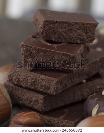 tasteful chocolate - stock photo