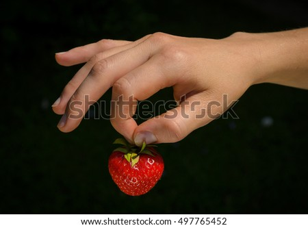 tasty and juicy fresh strawberry
