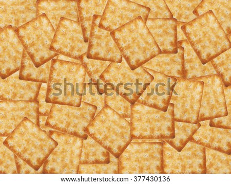 Tasty biscuits crackers background pattern - stock photo