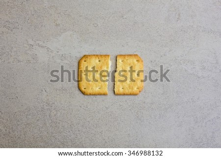 Tasty biscuits isolated on tile surface background - Biscuit Texture Closeup Details  - stock photo