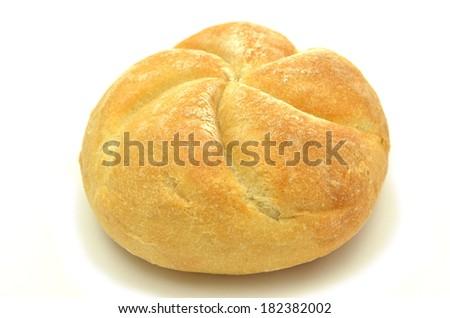 tasty bun isolated on white background - stock photo