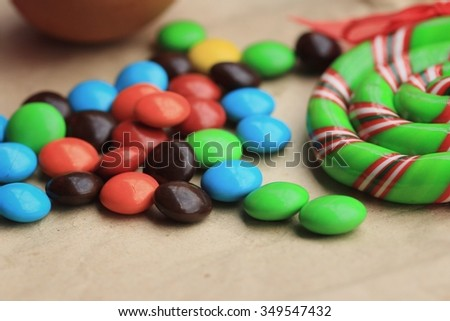 tasty candy chocolate colorful