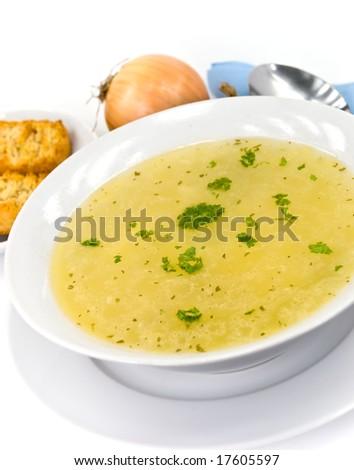 tasty chicken soup - stock photo