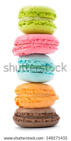 Tasty colorful macaroon    - stock photo