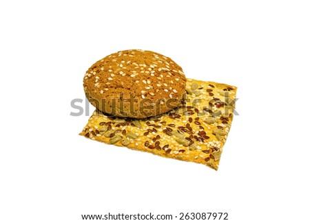 tasty cookies on a white - stock photo