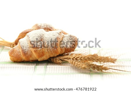 Tasty croissants with spikelets