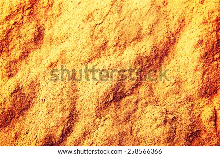 Tasty curry or curcuma spice.  - stock photo