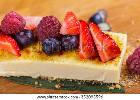 Tasty dessert with berries - stock photo