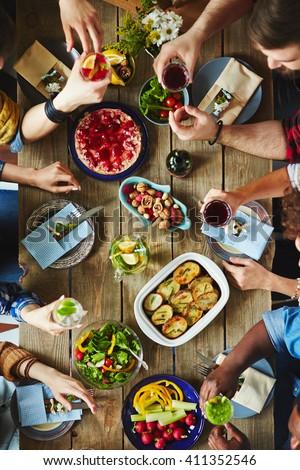 Tasty dinner - stock photo