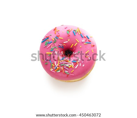 Tasty donut isolated on white background. Donuts - stock photo