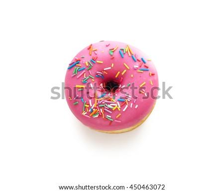 Tasty donut isolated on white background. Donuts - stock photo