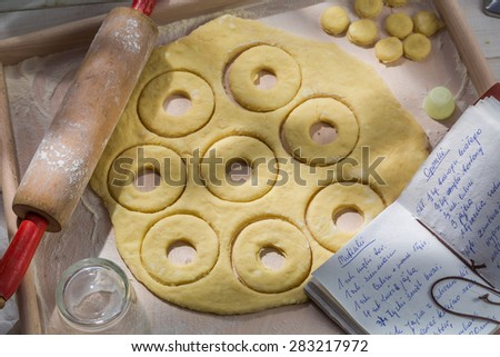 Tasty donuts made of dairy ingredients - stock photo