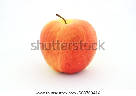tasty fall apple fruit red and yellow isolated photography