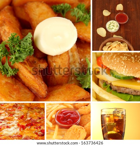 Tasty food collage