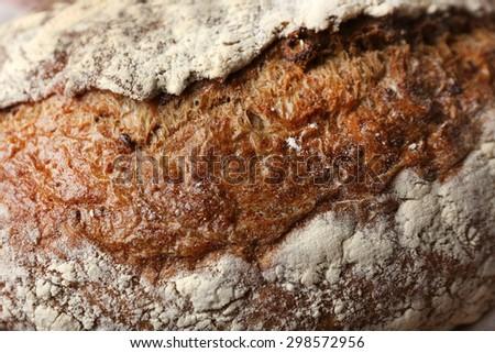 Tasty fresh bread, close up - stock photo