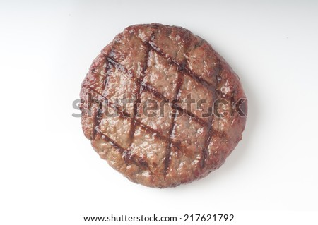 tasty grilled beef burger on a white background for graphic design