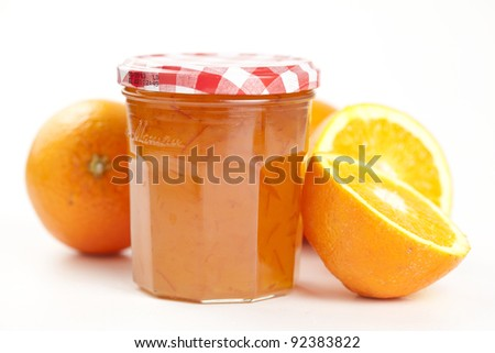 tasty home made marmelade isolated over white - stock photo